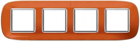 Axolute Накладки декоративные в форме эллипса прозрачные/апельсиновая карамель на 2+2+2+2 модуля