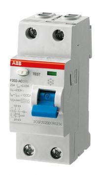 Выключатель дифференциального тока (УЗО) двухполюсный 63А 300мА F202 А S