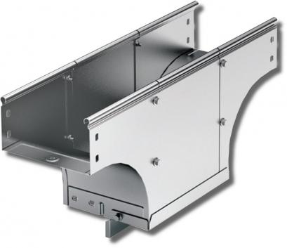 Ответвитель-переходник TDSA Т-образный вертикальный 150/300 в комплекте с крепежными элементами и соединительными пластинами