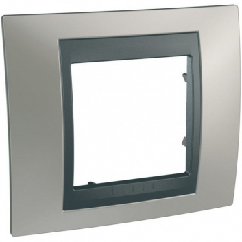 UNICAtop Рамка 1 пост металл (никель/графит)