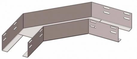 Лоток угловой глухой КГГ 500х65 У3 поворот на 90, окрашенный, S1,5
