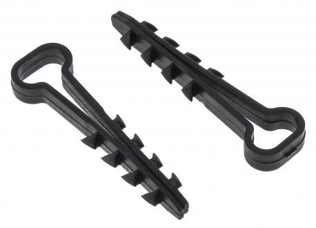 Дюбель-хомут 6х12 полипропилен черный Simple (10шт)
