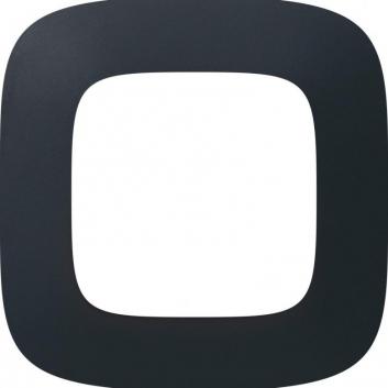 Valena ALLURE Рамка 1 пост черная сталь универсальная